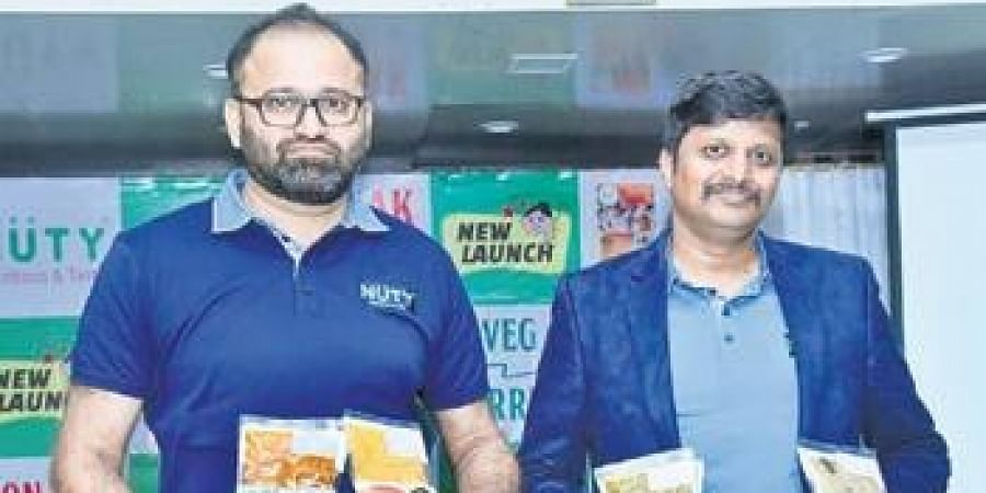 Founders Ray Nathan and Naveen Chander at NuTy Ready-Meals launch