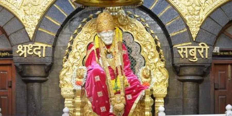 Sai Baba's idol in Shirdi temple
