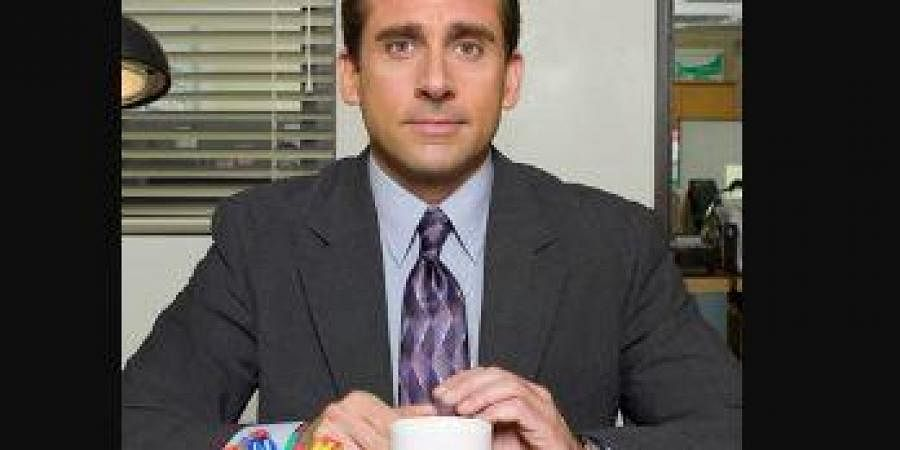 Steve carell as Michael Scott, Regional Manager of the Dunder Mifflin Scranton Branch in The Office.