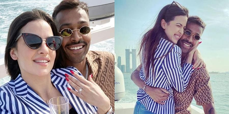 India all-rounder Hardik Pandya on Wednesday announced his engagement with Bollywood actress Natasa Stankovic via a social media post. 'Mai tera, Tu meri jaane, saara Hindustan (I am yours, you are mine and the entire nation knows it). 01.01.2020 #engaged,' Hardik wrote on his Instagram profile where the couple were seen celebrating their engagement.