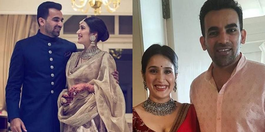 Indian cricketer Zaheer Khan and Chak De' star Sagarika Ghatge tied the knot in a private ceremony in 2017. The newlywed couple, who met through a common friend, had got engaged in April that same year.