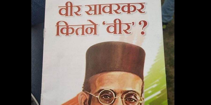 The booklet mentions about incidents, questions and controversies surrounding Savarkar and RSS