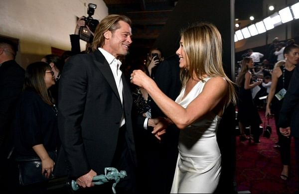 Brad Pitt, Jennifer Aniston reunite backstage at SAG awards 2020