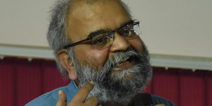 Prof Satish Deshpande, speaking at the Centre for Dalit Studies in Hyderabad on Sunday.