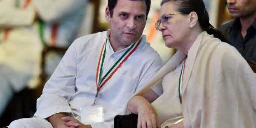 Congress leader Rahul Gandhi with Party President Sonia Gandhi.