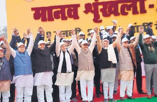 Opposition jittery of rebellions as Bihar MLAs attend Nitish government's event