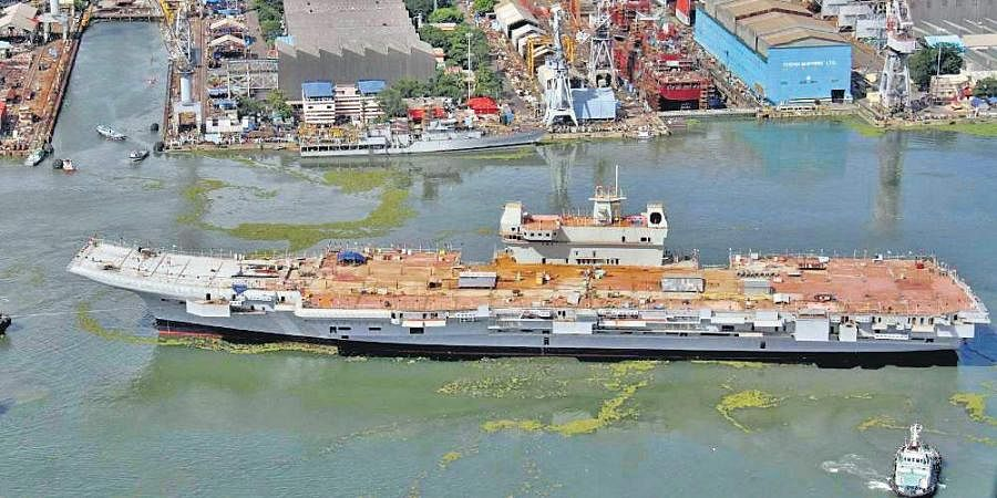 Aircraft carrier Vikrant being constructed by Cochin Shipyard. | (File | EPS)