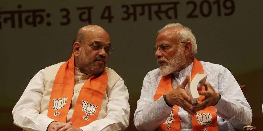 Home Minister Amit Shah and Prime Minister Narendra Modi