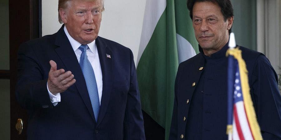 US President Donald Trump and Pakistan's Prime Minister Imran Khan