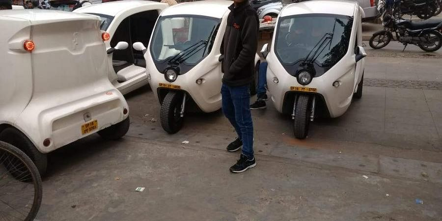 Photo of electric autos used for representational purposes.