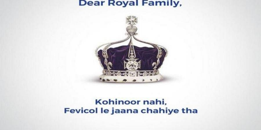 In the campaign, Fevicol took a jibe at the Royal Family