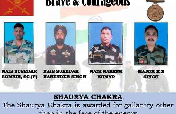 Six Army personnel awarded Shaurya Chakra, one posthumously
