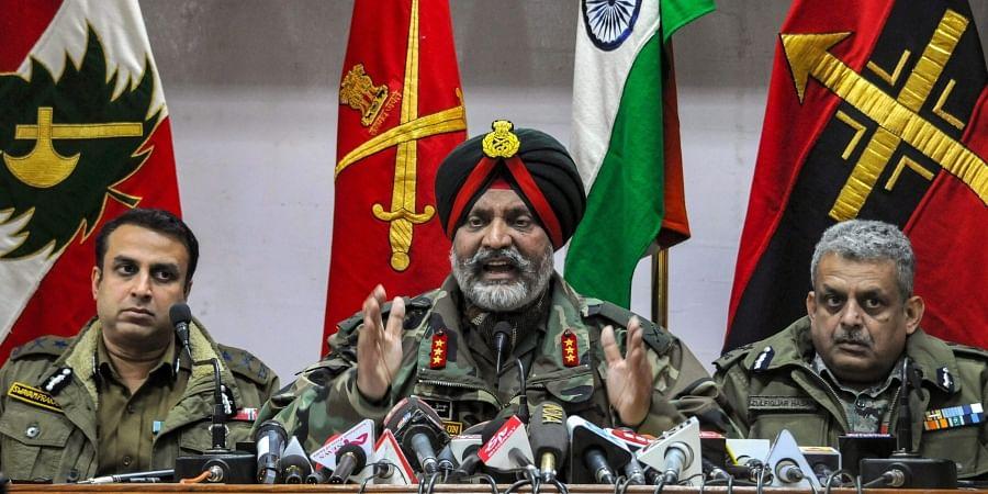 General Officer Commanding (GoC) of the Srinagar-based Chinar Corps, Lt Gen K J S Dhillon.