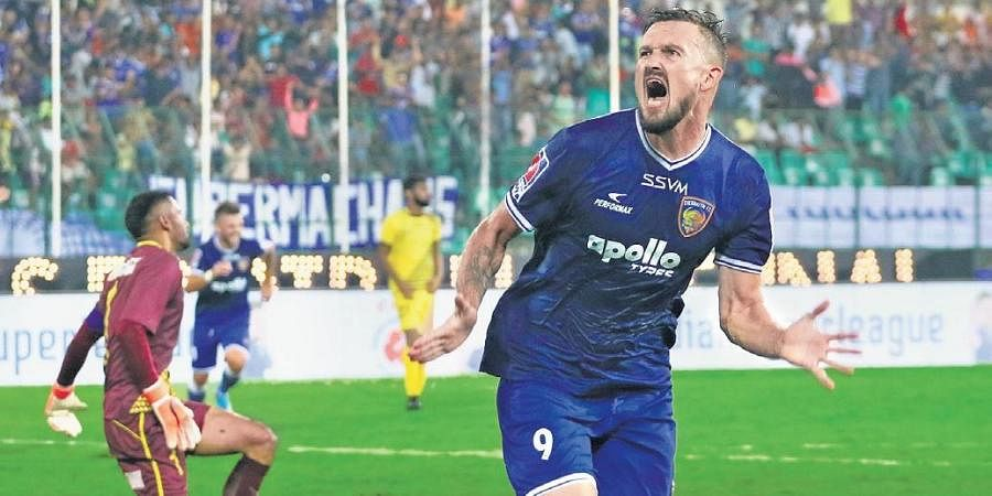 Nerijus Valskis is the top scorer in the ISL this term with 10 goals