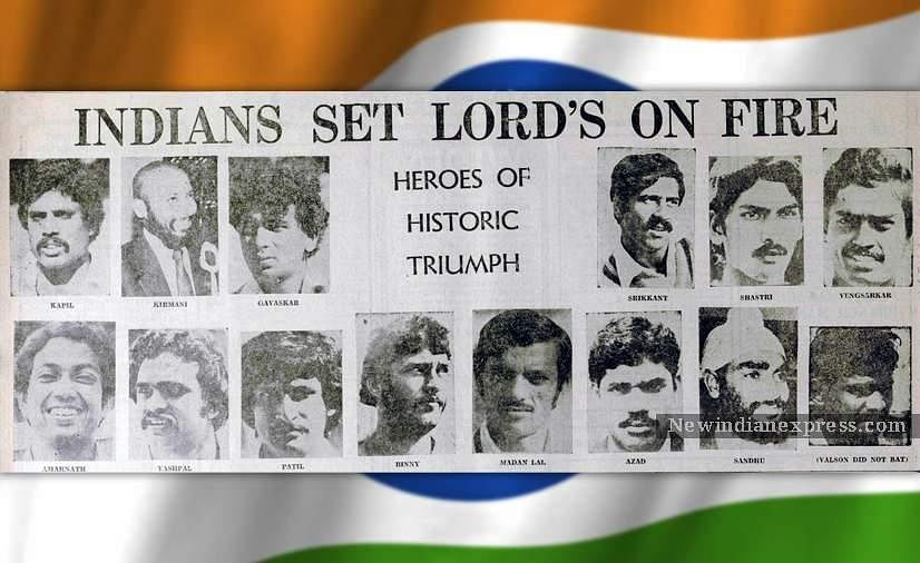 A news clip of the Indian squad from 25th June, 1983, a day after India's historic 1983 World Cup triumph.
