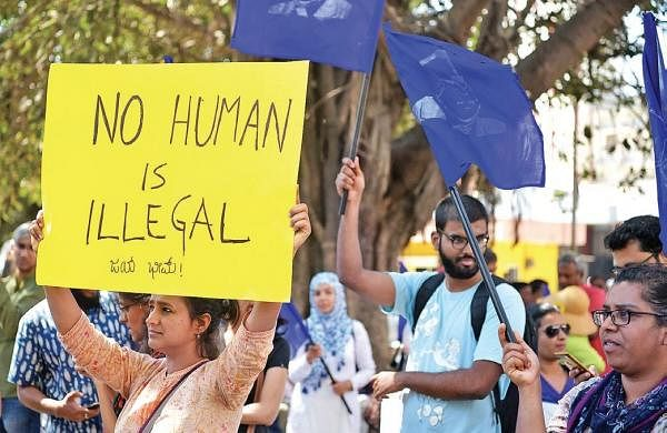 On Republic Day,protests against CAA and NRC voices ring out loud in Bengaluru