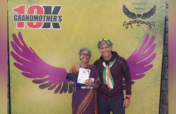 Old women participate in 'Grandmother 10k run' at Bengaluru