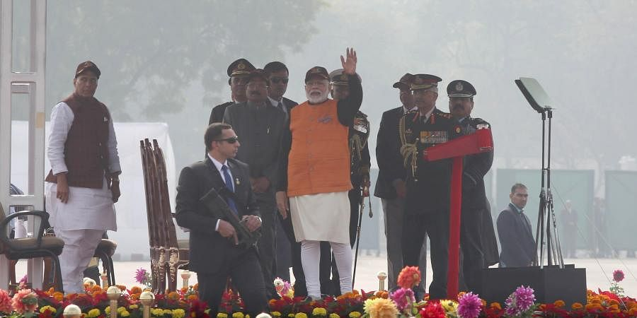 PM Narendra Modi at the Annual Prime Minister's National Cadet Corps rally 2020.