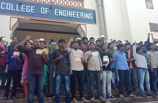 Osmania University students demand release of Professor C Kasim