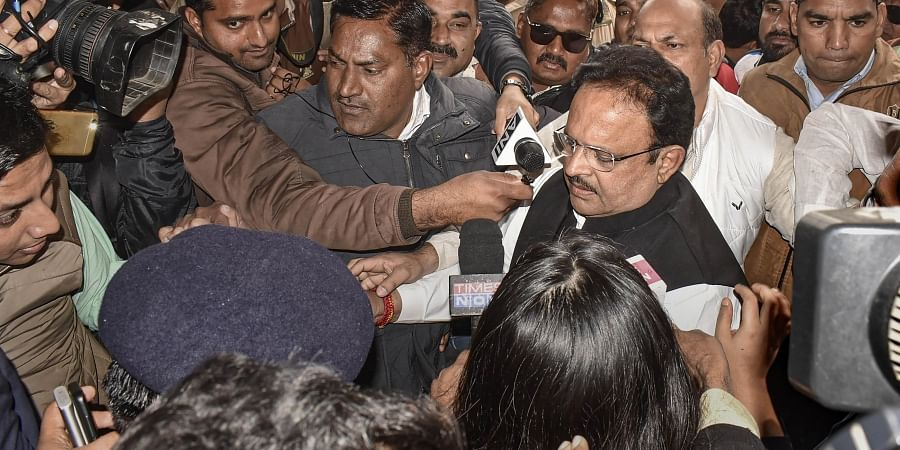 Rajasthan Health Minister Raghu Sharma visits the JK Lon hospital where at least 100 infants have died in the month of December as per reports in Kota district