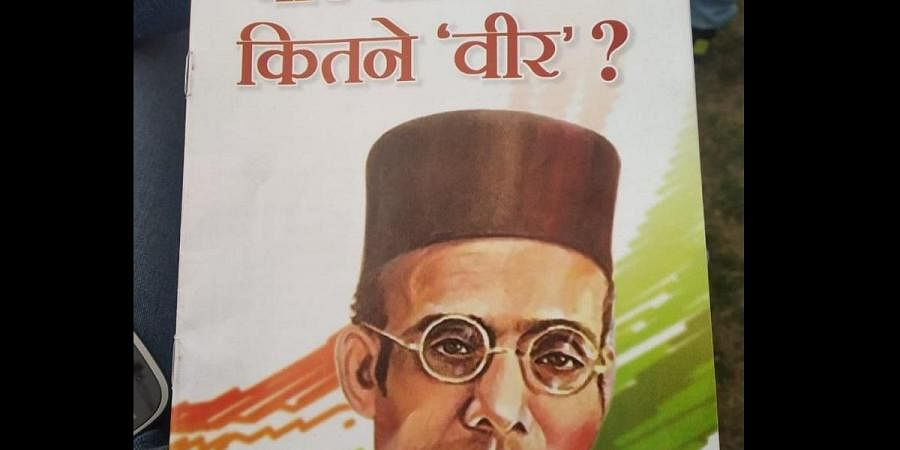 The booklet mentions about incidents, questions and controversies surrounding Savarkar and RSS. (Photo | EPS)