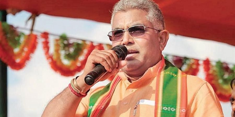West Bengal BJP president Dilip Ghosh at an event