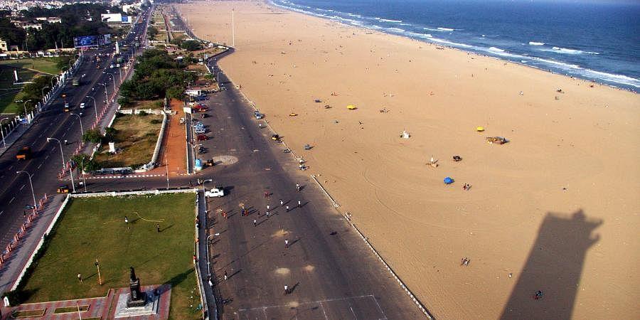 Chennai beahc, marina Beach, Lighthouse