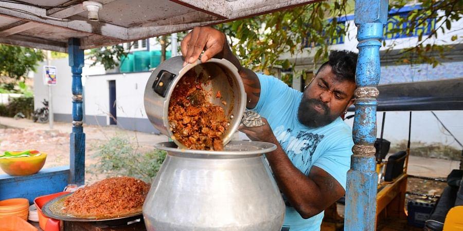 Krishnan at his beef shop