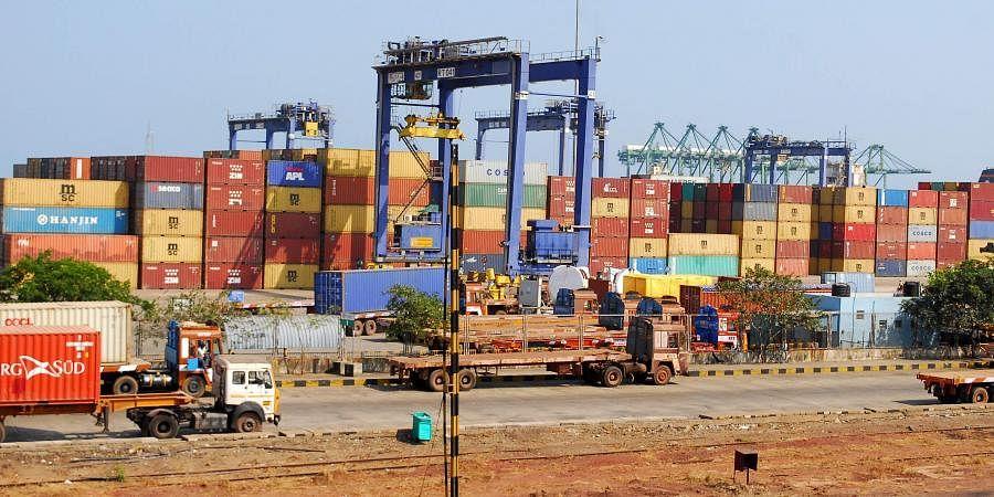 A view of Chennai Port