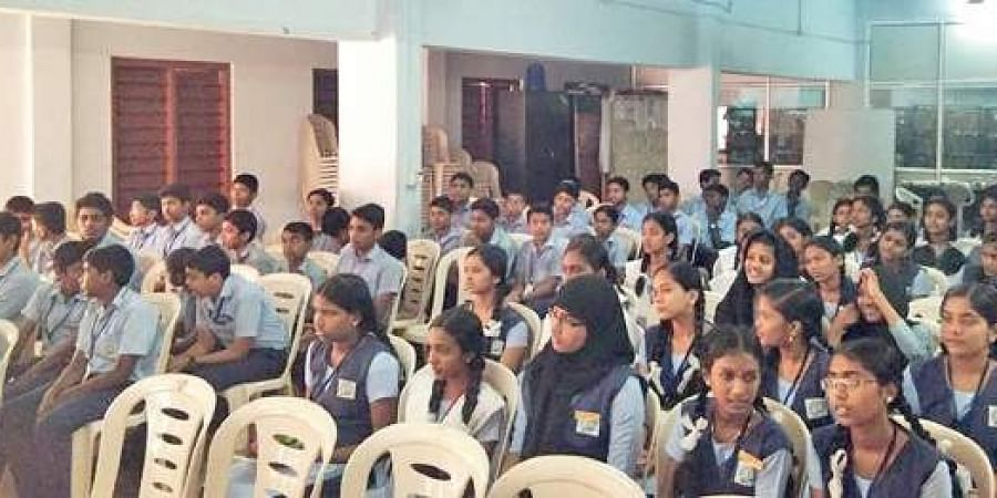 Students of St Mary's Higher Secondary School, Pattom