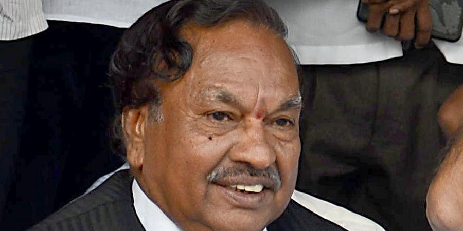 Karnataka Rural Development Minister KS Eshwarappa