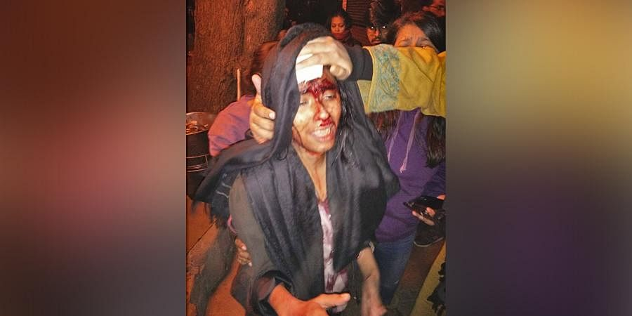 Jawaharlal Nehru University Student Union (JNUSU) President Aishe Ghosh attacked inside JNU campus by alleged ABVP members.