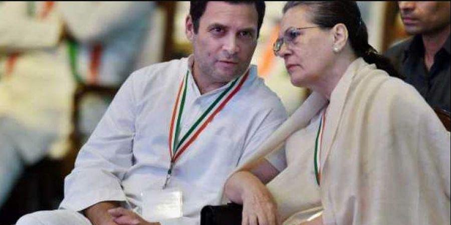 Congress leader Rahul Gandhi with Party President Sonia Gandhi.