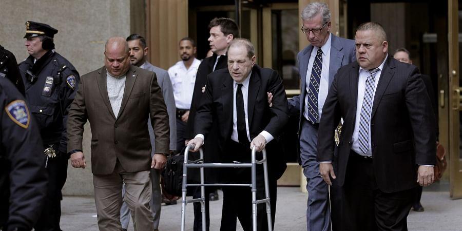 Harvey Weinstein leaves court in New York, Monday.