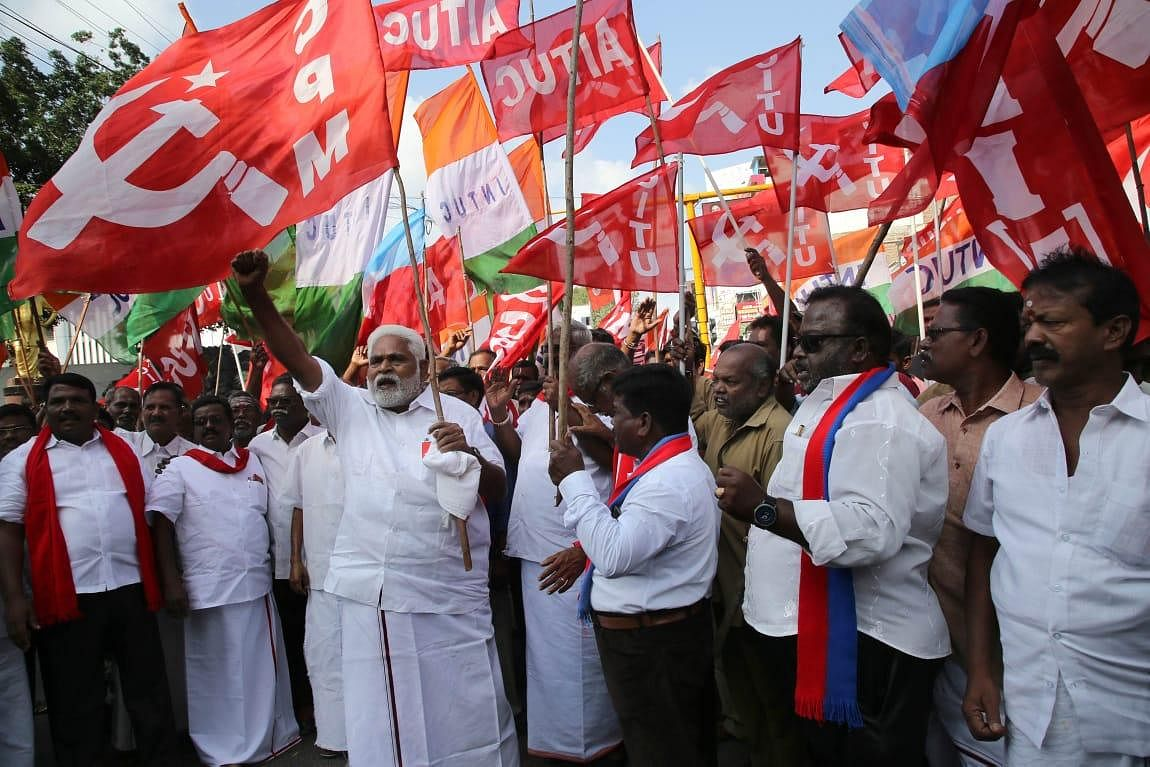 Left parties and Trade unions called for all India bandh against Citizen Amendment Act in Puducherry.