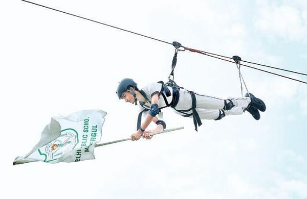 Students perform feats in thin air in Hyderabad