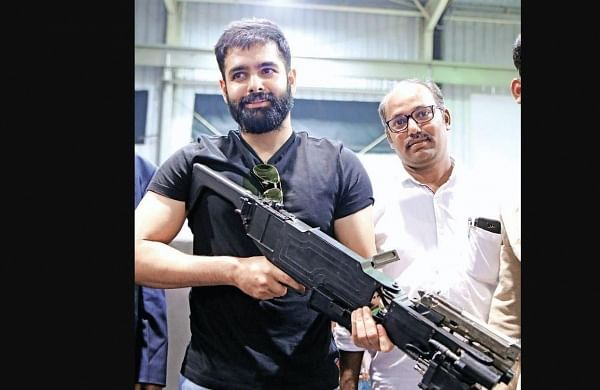 Actor Ram Pothineni takes a shot in Hyderabad