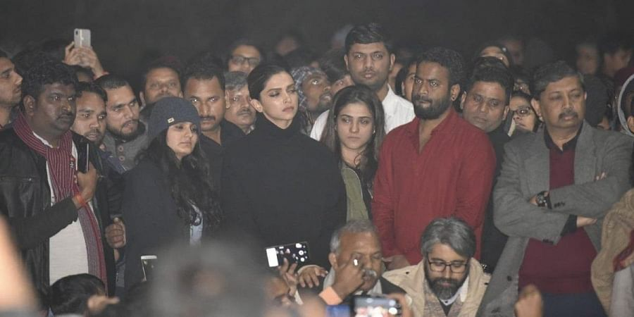 Deepika Padukone visited JNU to stand in solidarity with students attacked on Sunday.