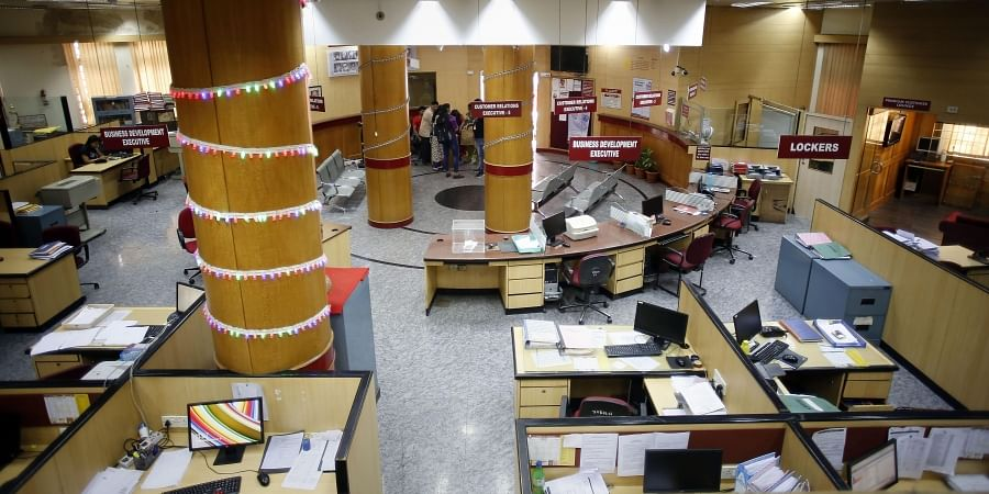 A Punjab National Bank branch wear a deserted during trade unions' nationwide strike in Mumbai Wednesday Jan. 8 2020. (Photo   PTI)