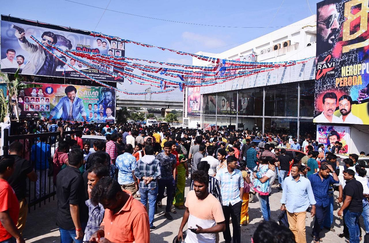 Hundreds thronged to cinema halls to watch 'Darbar' which released worldwide on January 9, 2020.