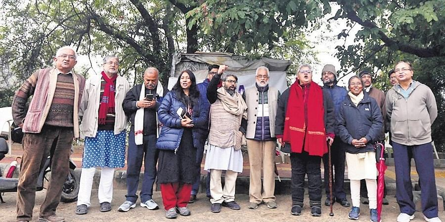 Professor Anshu Joshi asserted the protests should be peaceful.