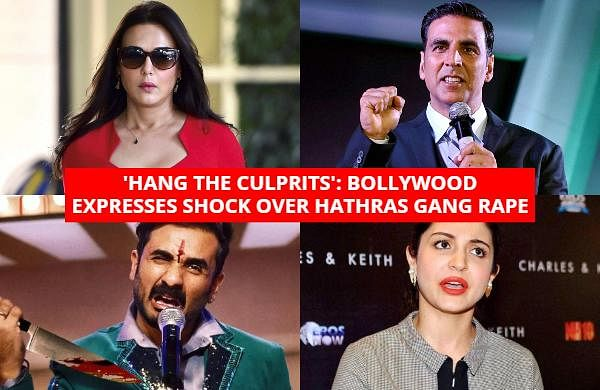 Bollywood celebrities have expressed shock over the gang rape of a teenager in Hathras. B-Towners also voiced protest against the alleged cremation of the victim by the police without the consent of her family early on Wednesday.