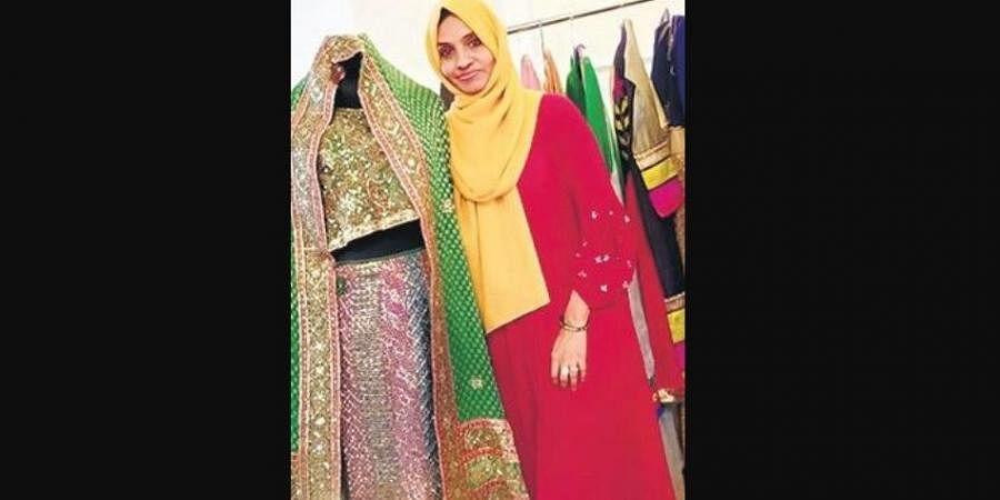 Sabitha AK at her boutique