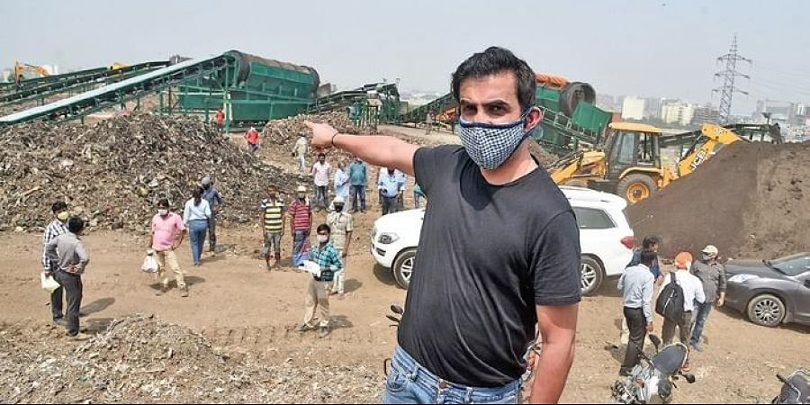 East Delhi MP Gautam Gambhir had inaugurated four trommel machines at the Ghazipur sanitary landfill last month to reduce its size.