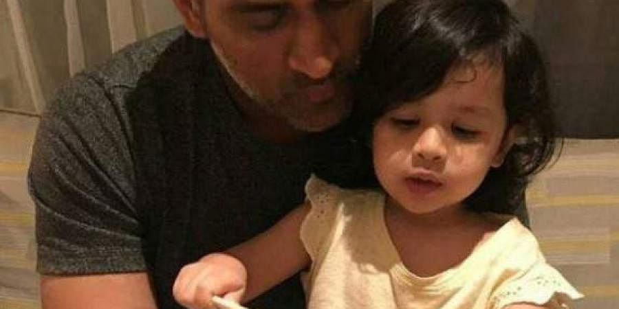 MS Dhoni with his daughter Ziva (Photo | Instagram)