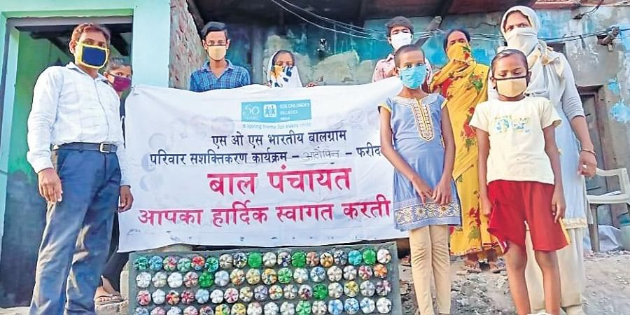 Plastic waste awareness projects by SOS Children's Villages in Faridabad.