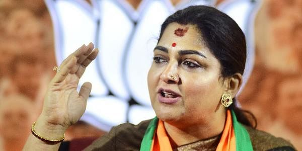 BJP member Kushboo Sundar (File photo | Debdatta Mallick, EPS)