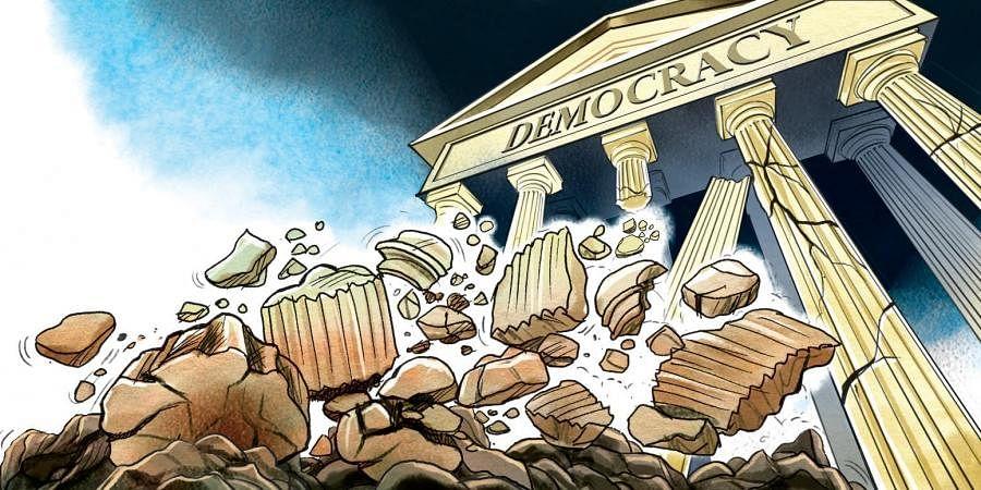 Crumbling democracy