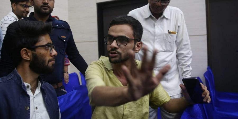Naveen Dalal opened fire at JNU student Umar Khalid outside the Constitution Club of India in New Delhi on Monday.  | (File | Shekhar Yadav/EPS) | EPS)