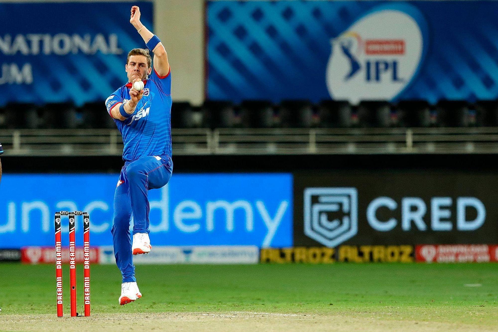 Anrich Nortje of Delhi Capitals. (Photo | IPL)